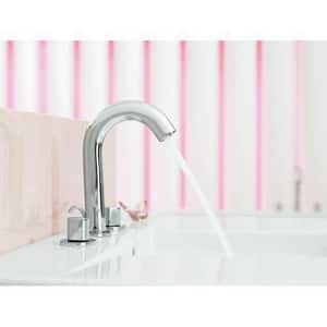 Kohler Oblo® 3-Hole Deckmount Widespread Lavatory Faucet with Double Knob Handle in Vibrant Brushed Nickel K10086-9-BN