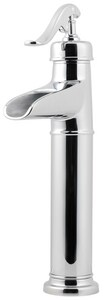 Pfister Ashfield™ Single Lever Handle Vessel Lavatory Faucet and Waterfall Trough Spout in Polished Chrome PGT40YP0C