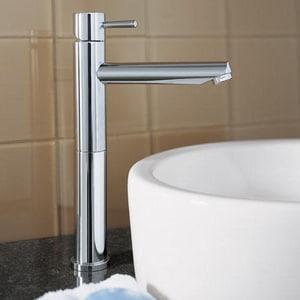 American Standard Serin® Single Handle Monoblock Bathroom Sink Faucet in Polished Chrome A2064151002