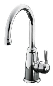 Kohler Wellspring® 1-Hole Beverage Faucet with Contemporary Design and Single Lever Handle in Polished Chrome K6665-F-CP