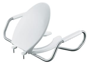 KOHLER Lustra™ Elongated Open Front Toilet Seat with Cover in White K4654-A-0