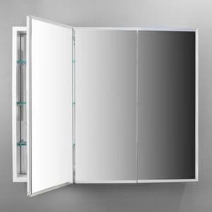 Robern PL Series 30 in. Surface Mount and Recessed Mount Medicine Cabinet in White RPLM3630W