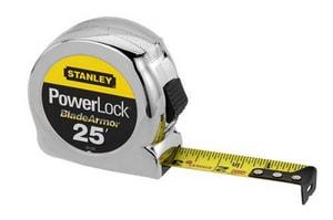 Stanley PowerLock® 1 in. X 25 Ft. Tape Rule with Blade Armor Coating S33525