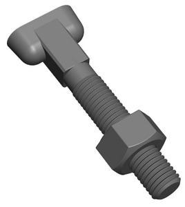 PROSELECT® PSMJARTBF Series 3/4 x 4.5 in. Mechanical Joint Anti-Rotation T Head Nut and Bolt PSMJARTBFR at Pollardwater