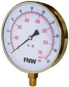 FNW® 100 psi Pressure Gauge FNWG0100R
