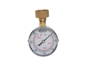 PROFLO® 300psi Water Test Gauge with Indicator in Stainless Steel PFWGI300L