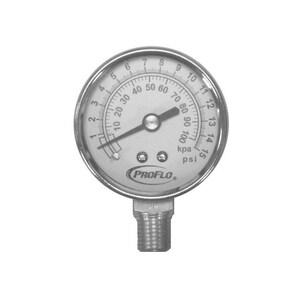 PROFLO® Dual Scale Liquid Filled Pressure Gauge 0-100# PFXPGLF100K