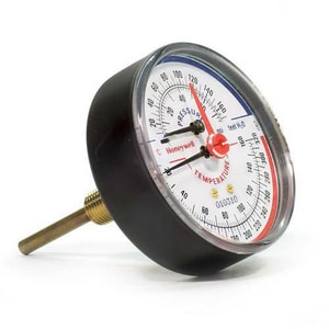 Honeywell Home TD 3-1/8 in. Pressure/Temperature Gauge 75# HTD165
