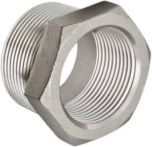1/2 x 3/8 in. Threaded 150# 304L Stainless Steel Bushing IS4CTBDC