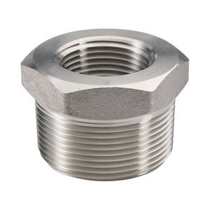 1-1/2 x 1 in. Threaded 3000# 304L Stainless Steel Bushing IS4L3TBJG