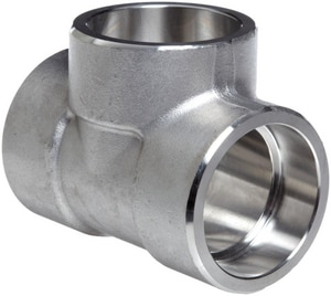 1 x 1 x 1/2 in. Socket 3000# 304L Stainless Steel Reducing Tee IS4L3ST
