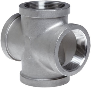 1-1/4 in. Threaded 150# 316 Stainless Steel Cross IS6CTCRH