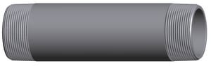3/8 x 5 in. Threaded Extra Heavy Black Seamless Nipple BXSNCS