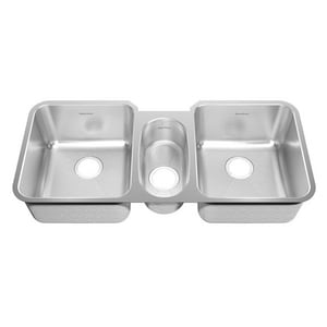 American Standard Prevoir® Triple Bowl Undermount Sink Brushed Stainless Steel A16TB411900073