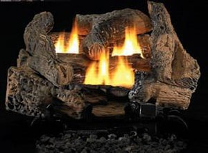Innovative Hearth Products Vantage Hearth 24 in. Golden Oak Natural Gas Ceramic Fiber Log Set FLVD24GO