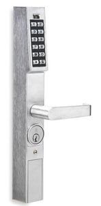 Alarm Lock User Narrow Stile Electronic Digital Keypad Outside Trim in Satin Chrome ADL120026D1