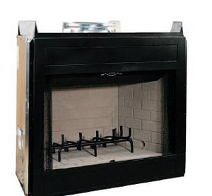 Innovative Hearth Products 36 in. Circuit Louvered Face Wood Fireplace with Insulation IWCT3036WSI