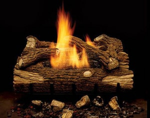 Monessen Hearth Systems Mountain Oak 28 btu Natural Gas Vent Free Manual Control Fireplace MEYF18NM