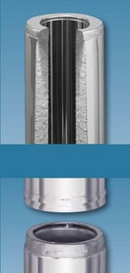 Security Chimneys International Secure Temp™ 6 X 24 in. Length All Fuels Security High Temp SEC6L24