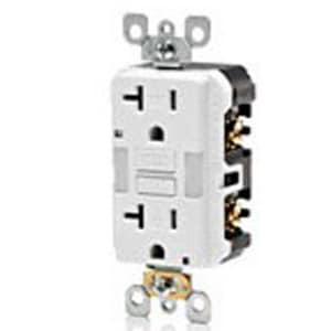 Leviton 20A GFCI Tamper Resistant Receptacle with Guide in Ivory LX7892
