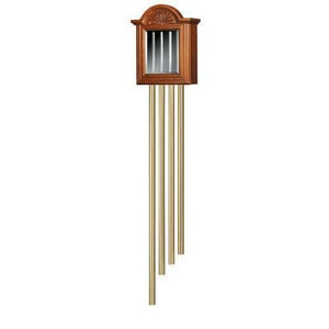 Broan 60-1/4 in. 4 Brass Tubes Beveled Mirror Chimes in Cherry NLA501CY
