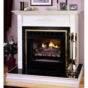Innovative Hearth Products Merit® 36 in. Black Interior Smooth Face Fireplace IVRT3036B