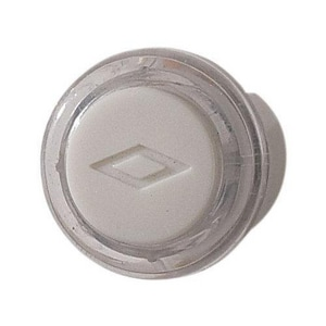 Broan Nutone 3/4 in. Lighted Push Button in Clear and White NPB18LWHCL