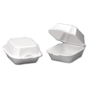 3-1/4 x 5-3/8 x 5-3/4 in. Sandwich Container in White (Case of 125) GNP22500