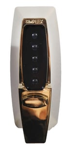 Kaba Access Control Auxiliary Push Button Lock with Turn and Deadbolt in Polished Brass K71080341