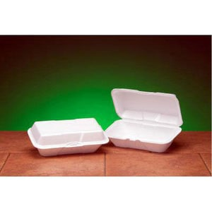 9-1/2 x 5-1/4 in. Large Foam Hoagie Sub Container in White (Case of 100) GNP21900