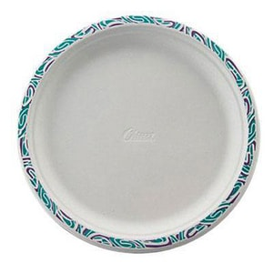 Chinet 10-1/2 in. Paper Plate with Festival Design (Case of 125) HUHPORCH