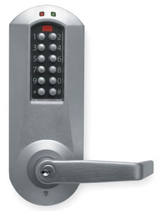 Kaba Simplex® Cylinder Push Button Lever with Lever in Satin Chrome KE5031XSWL62641