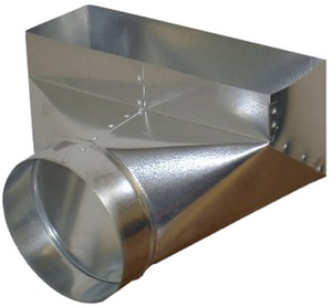 Northwest Metal Products 4 x 10 x 6 in. 90 Degree Angle Perimeter Boot N165062