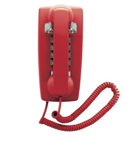 Cetis 1-Line Wall Phone in Red C25403