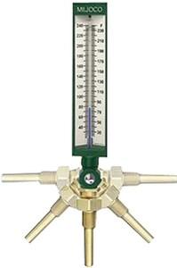 Miljoco 30-240 Degree F Industrial Gass Thermometer MSX93550