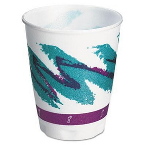 Solo Jazz® 8 oz. Hot and Cold Foam Cup (Case of 100) SCCX8J