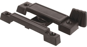 Primeline Products 2-1/4 in. Narrow Window Lock and Latch in Black 2-Pack PMP25322