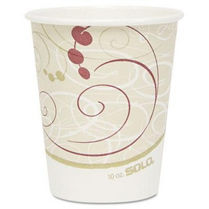 Solo Symphony® 10 oz. Hot Paper Cup in Beige (Case of 50) SCC370SMSYM