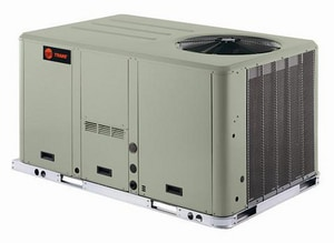 Trane Precedent™ 5 Ton 10.2 SEER R-22 Single-Stage Lanced Convertible Natural Gas and Propane 60 MBH 1 hp 208/230V 3-Phase Standard Efficiency Commercial Packaged Gas and Electric TYSC060G3EMB0000