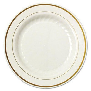 Masterpiece™ Plastic Dinner Plate in Ivory (Case of 12) WNAMPIPREM