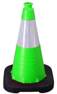 VizCon Enviro-Cone® 18 in. 3 lb. Cone with Reflective Collar in Hi-Viz Lime V16018LHIWB3 at Pollardwater