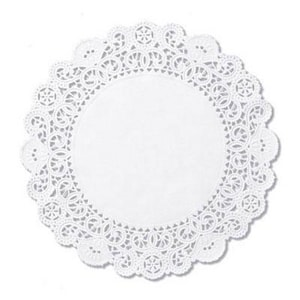 4 in. Bond Round Lace Doilies in White (Case of 2000) HFMLA9042M