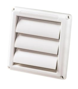 Deflecto Supurr-Vent® 4 x 5/8 in. in White Louvered Hood DHS4W48