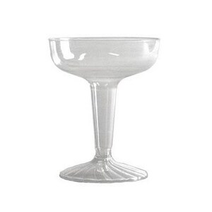 Comet 4 oz. Plastic Champagne Stemware in Clear (Case of 25) WNASW4