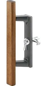 Primeline Products Handle Set for Internal Sliding Door  in Black Wood PMP1107