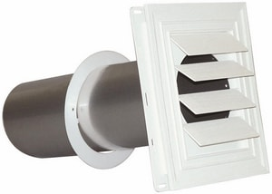 Deflecto Supurr-Vent® 3 x 6 in. in White Louvered Hood DSVHUW3