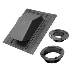 Lambro Industries 4 in. Plastic Roof Cap Black L3540