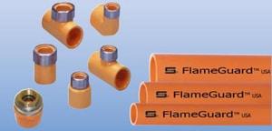 Spears FlameGuard™ 1-1/2 x 1-1/2 x 1 in. CPVC Special Reinforced Sprinkler Head Tee S42021SR