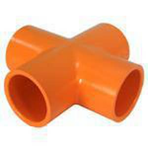Spears FlameGuard™ 1-1/4 x 1-1/4 x 1-1/4 x 1-1/4 in. CPVC Sprinkler Cross S4220012