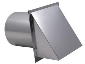 Fresh Air Manufacturing 3 in. Screen Wall Vent Galvanized FSWVG3